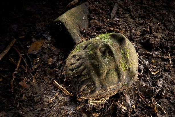 Tribal symbol: One of the untouched artifacts found at the site