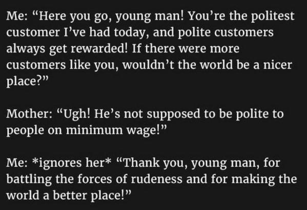 Polite Customer