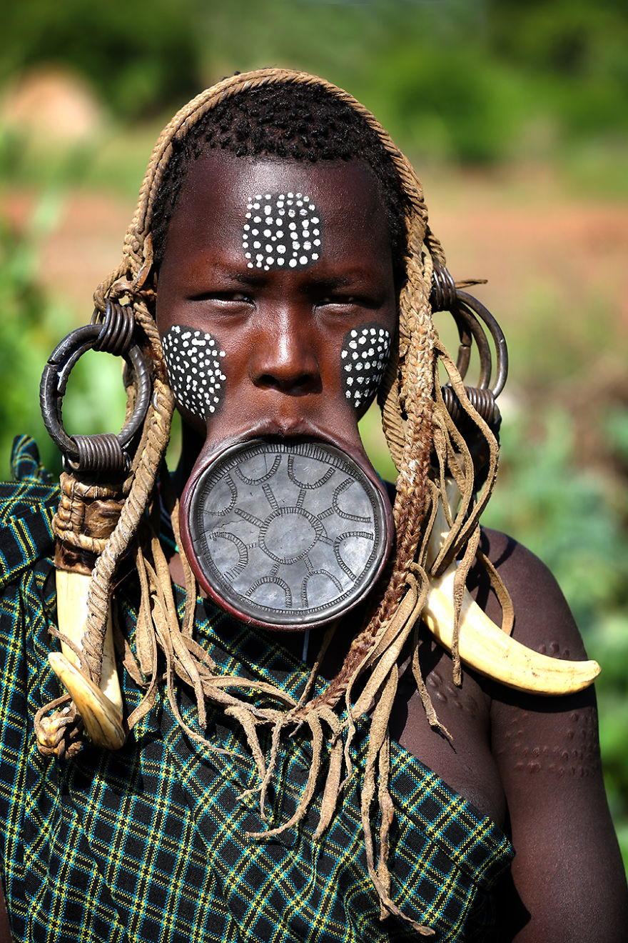 Mursi Tribe Girl