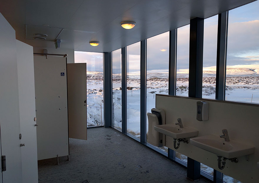 School's Toilet View In Iceland