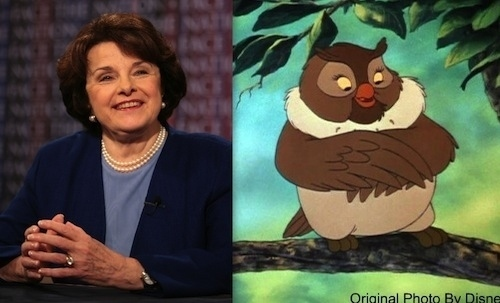Dianne Feinstein as Big Mama