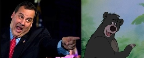 Chris Christie as Baloo