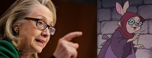 Hillary Clinton as Mother Rabbit