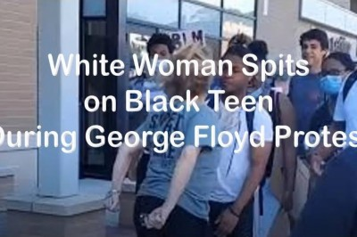 White Woman Spits on Black Teenager During George Floyd Protest in Wisconsin