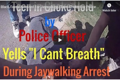 "2 Black Teens Arrested For Jaywalking (Teen Choked by Police Officer Yell, ""I Can't Breath"") Tulsa"