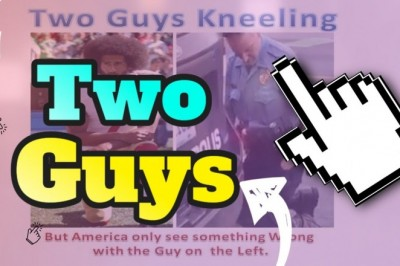 Two Guys Kneeling, But America Only See a Problem With The Guy On the Left!